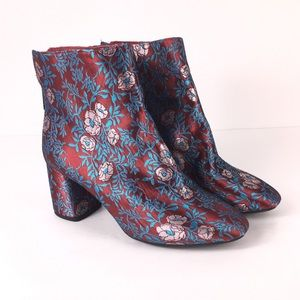 Gianni Bini Catalano Brocade chunky heel booties